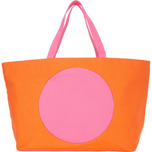 Lisa Perry Circle Square Beach Tote