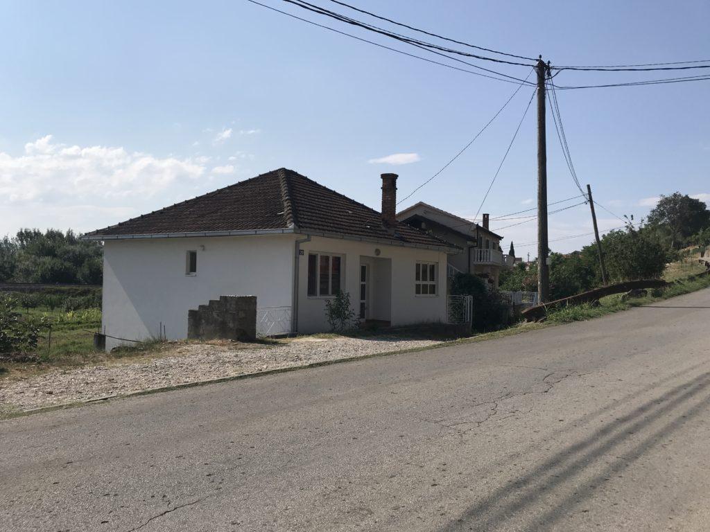 Čapljina'da konakladığımız iki katlı evin dış görünüşü