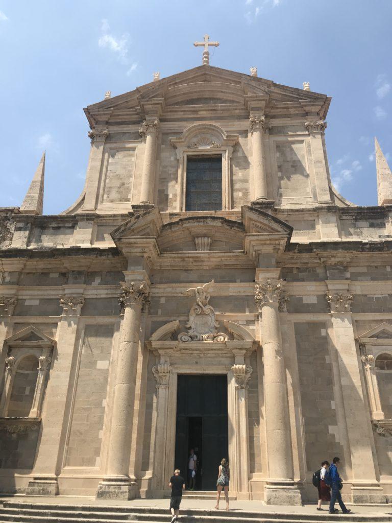 Dubrovnik Old Town - St Blaise Kilisesi giriş tarafından görünümü