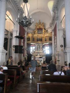Dubrovnik Old Town - St Blaise Kilisesi'nden bir yaz günü iç mekan görüntüsü
